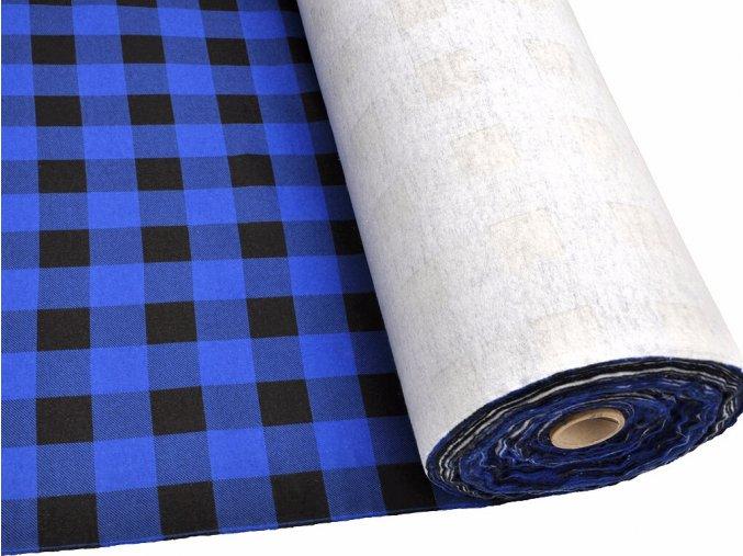 FLANEL 165 (K1 kostky velké modro-černé) 160cm