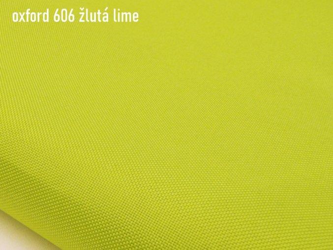 OXFORD 200/606 žlutá citron 160cm