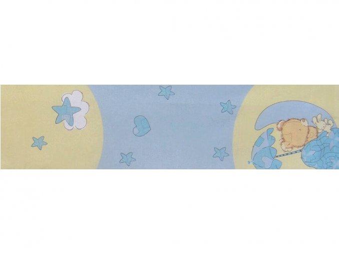DOMESTINO 135/14330-1 Medvídek modrý 150cm / METRÁŽ NA MÍRU