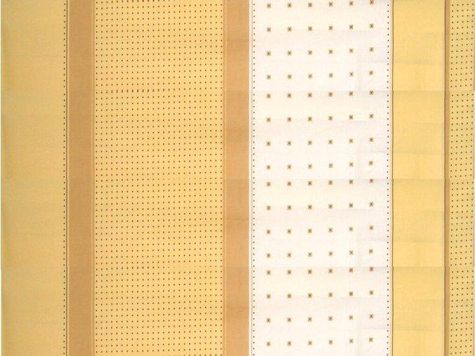 DOMESTIK 145/14453-1 geometrie čtverce-pruhy šíře 220cm / VELKOOBCHOD