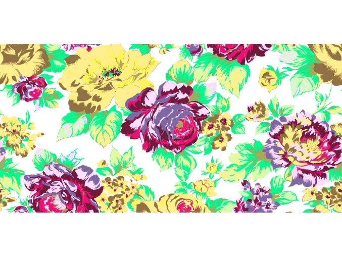 KREP 115/9100-1 růžový květ 210cm