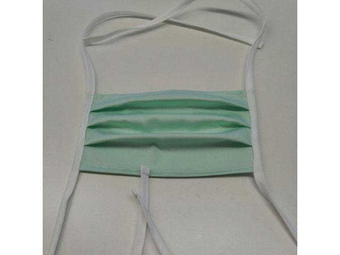 Textilní prodyšná rouška, art.R101MAR, opakovatelně použitelná, 90°C protichlor, česká výroba
