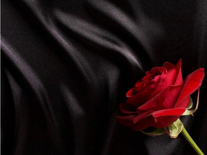 SATEEN 150 (264 černá NERO hladký)-285cm / METRÁŽ NA MÍRU