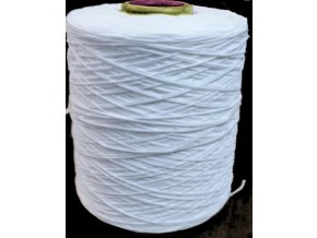Guma na roušky Elastické lanko bílé 3 mm