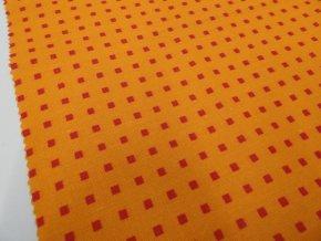 HABINA 125 (213239-2-2 Malé kostky oranžové)-142cm
