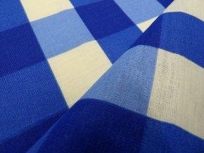 HABINA 125 (92384-46 Velké kostky modré)-142cm / METRÁŽ NA MÍRU