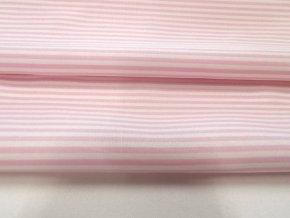 HALENA 110 (33329 Košilovina růžový proužek)-140cm / METRÁŽ NA MÍRU