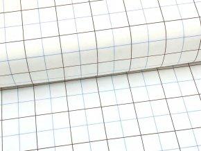HALENA 115 (44400 Košilovina bílý podklad kostka modrá)-140cm