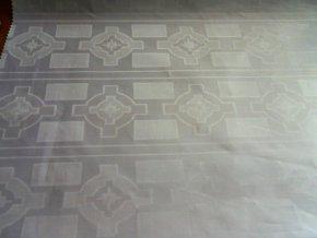 HEBRON 170 (Brokát 97064 Daulah bílý) / METRÁŽ NA MÍRU