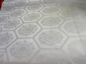 HEBRON 170 (Brokát 97078 Everest bílý) / METRÁŽ NA MÍRU
