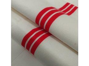 DOMESTIK 145/P32 červený pruh do zdravotnictví 150cm