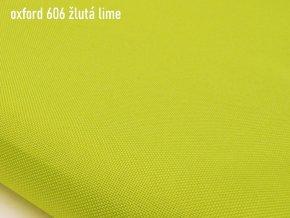 OXFORD 200/606 žlutá citron 160cm / METRÁŽ NA MÍRU