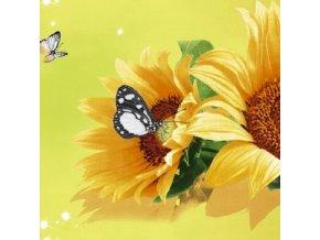 DOMESTIK 145/16175-1 slunečnice šíře 220cm