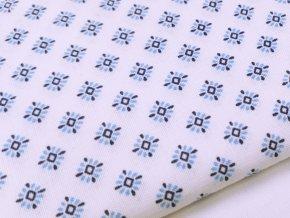 DOMESTIK 145/A1505 HVĚZDA BLUE-BLUE andílky do zdravotnictví 150cm / METRÁŽ NA MÍRU