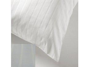 SATEEN 150/ 100 bílá hotelový pruh 24-6mm (100 Bílá)-285cm / METRÁŽ NA MÍRU