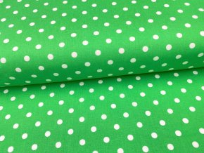 DOMESTIK 145/13069-7 Puntíky zelené 10mm