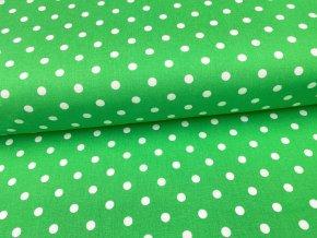 DOMESTIK 145/13069-7 zelený poklad Puntíky 10mm
