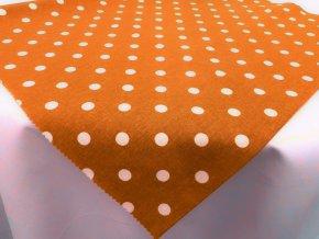 DOMESTIK 145/13069-10 oranžový poklad Puntíky 10mm
