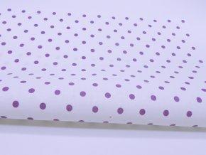 DOMESTIK 145/21485-3 Puntíky fialové 5mm