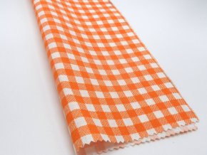 DOMESTIK 145/21375-7 KÁRO oranžové kostky 7mm / METRÁŽ NA MÍRU