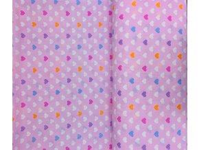 Bavlněná látka Zmrzka růžová š. 150 cm