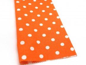 DOMESTIK 145/13069-10 oranžový poklad Puntíky 10mm / VELKOOBCHOD