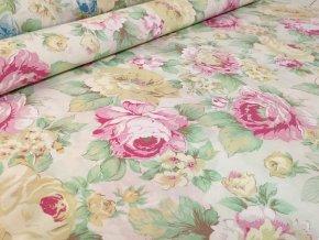 KREP 115/9100-1 růžový květ 210cm / VELKOOBCHOD
