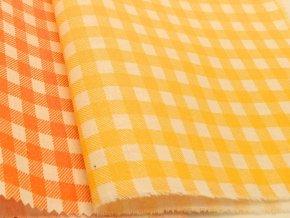 DOMESTIK 145/21375-6 KÁRO pomerančově žlutě kostky 7mm / VELKOOBCHOD