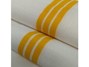 DOMESTIK 145/P33 žlutý pruh do zdravotnictví 150cm / VELKOOBCHOD