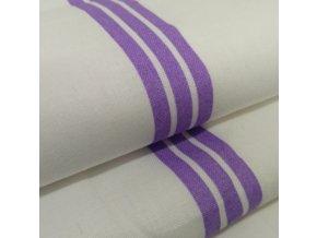 DOMESTIK 145/P50 fialový pruh do zdravotnictví 150cm / VELKOOBCHOD