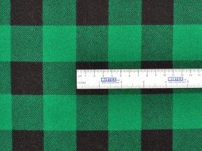 FLANEL 165 (K2 kostky velké černo-zelené) -160cm / VELKOOBCHOD