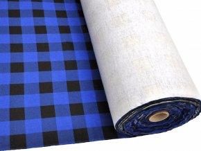FLANEL 165 (K1 kostky velké modro-černé) -160cm / VELKOOBCHOD