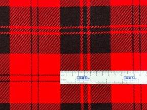 FLANEL 165 (S3 kostky červeno-černé) -160cm / VELKOOBCHOD