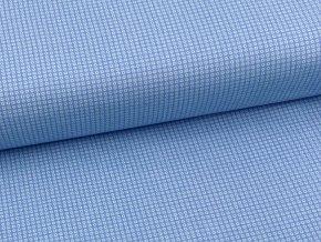 FLANEL 150 (11676-1 drobná kolečka modrá) 150cm / VELKOOBCHOD