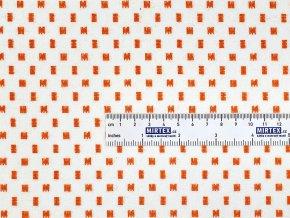 FLANEL 150 (14559-1 drobný vzor oranžový) 150cm / VELKOOBCHOD