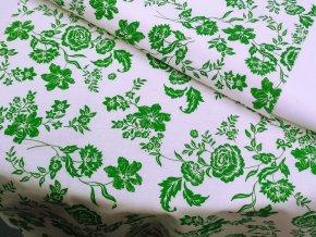 HANA 120 Chlupkal (213012-1-1 Růže zelená)-141cm / VELKOOBCHOD