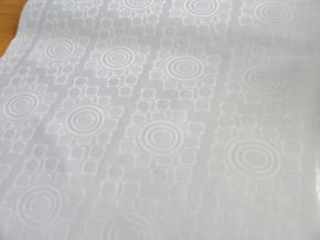 HEBRON 170 (Brokát 97049 Daulah bílý) / VELKOOBCHOD
