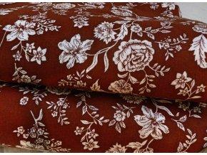 HANA 120 Chlupkal (213013-1-7 Růže hnědá opposite)-141cm / VELKOOBCHOD