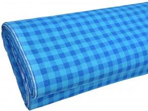 HABINA 125 (208925-2-1 Kostky modro-modré 1cm)-142cm / VELKOOBCHOD
