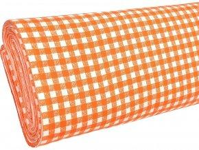 HABINA 125 (92321-13 Kostky oranžové 1cm)-142cm / VELKOOBCHOD