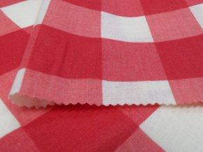 HABINA 125 (92384-34 Velké kostky červené)-142cm / VELKOOBCHOD