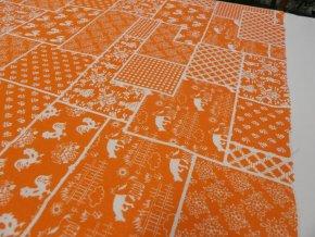 HABINA 120 (212804-1-6 Domácí farma oranžová, Hermann) / VELKOOBCHOD