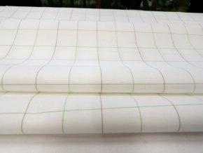 HALENA 115 (44401 Košilovina bílý podklad kostka zelená)-140cm / VELKOOBCHOD