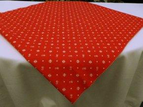 HERA 120 214056-1-10 Kvítka červená Renforce -142cm / METRÁŽ NA MÍRU