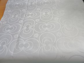 HEBRON 170 (Brokát 97040 Daulah bílý) / METRÁŽ NA MÍRU