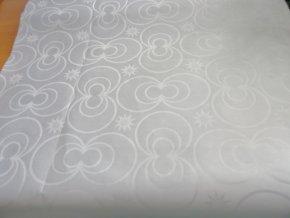 HEBRON 170 (Brokát 97040 Daulah bílý) / VELKOOBCHOD