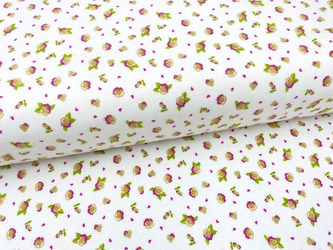 Mirtex FLANEL 150 (11411-3 drobné květy) 150cm / VELKOOBCHOD Ceník: VELKOOBCHOD: po celých rolích, b