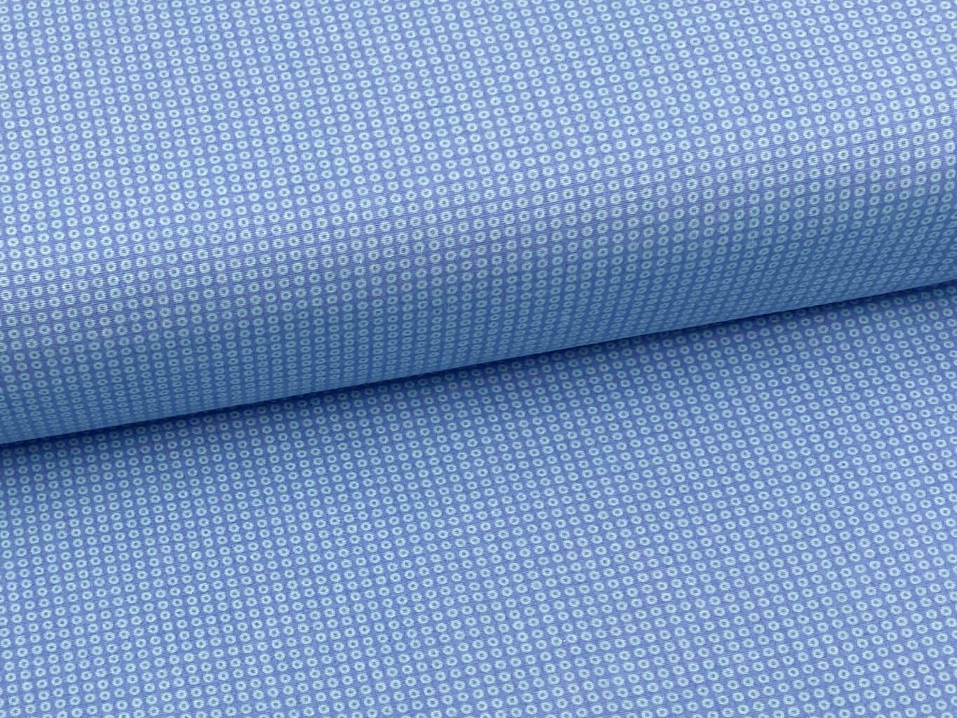 Mirtex FLANEL 150 (11676-1 drobná kolečka modrá) 150cm / VELKOOBCHOD Ceník: VELKOOBCHOD: po celých r