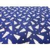 HCP120 Plátno (211860-1) - Stříbrný strom modrý / METRÁŽ NA MÍRU
