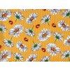 DOMESTIK 145/16053-7 beruška-žluté květy šíře 220cm